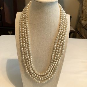 Vintage Dressy 4-strand pearls with ornate clasp